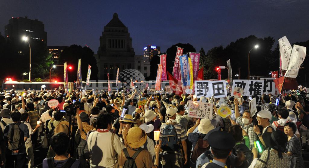 脱原発デモで国会を包囲、主催者発表で20万人参加