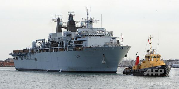 南シナ海を英軍艦が航行、中国が「強い不満」表明