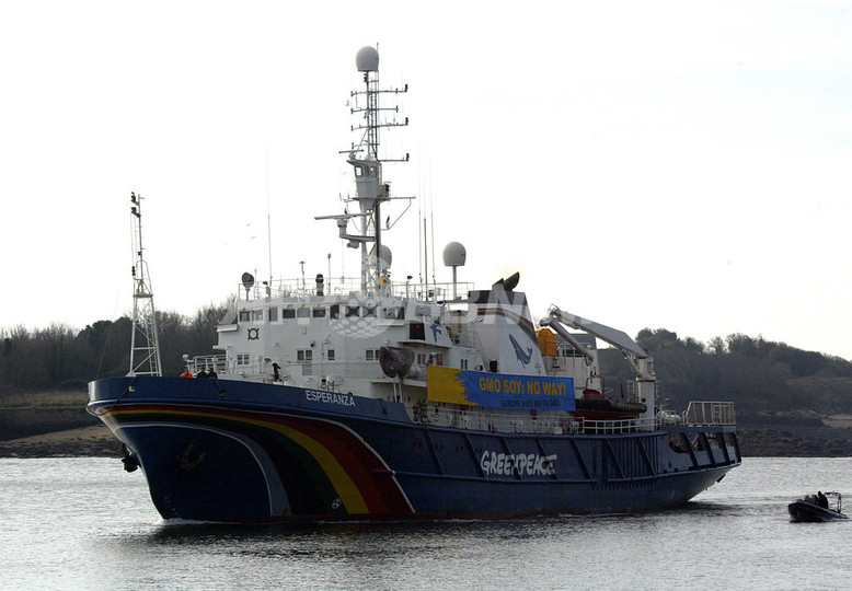 「日本の捕鯨船が退去」、グリーンピースが発表