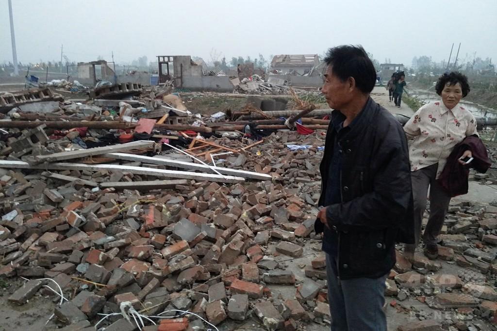 中国東部で暴風雨と竜巻、78人死亡、200人重傷