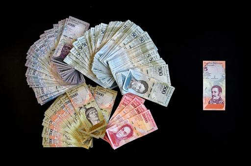 ベネズエラ、昨年のインフレ率は13万60% 中央銀発表、IMF予測の10分の1