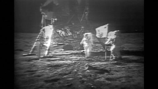 動画:世界をくぎ付けにした「一歩」の中継、アポロ月面着陸から50年 当時の映像