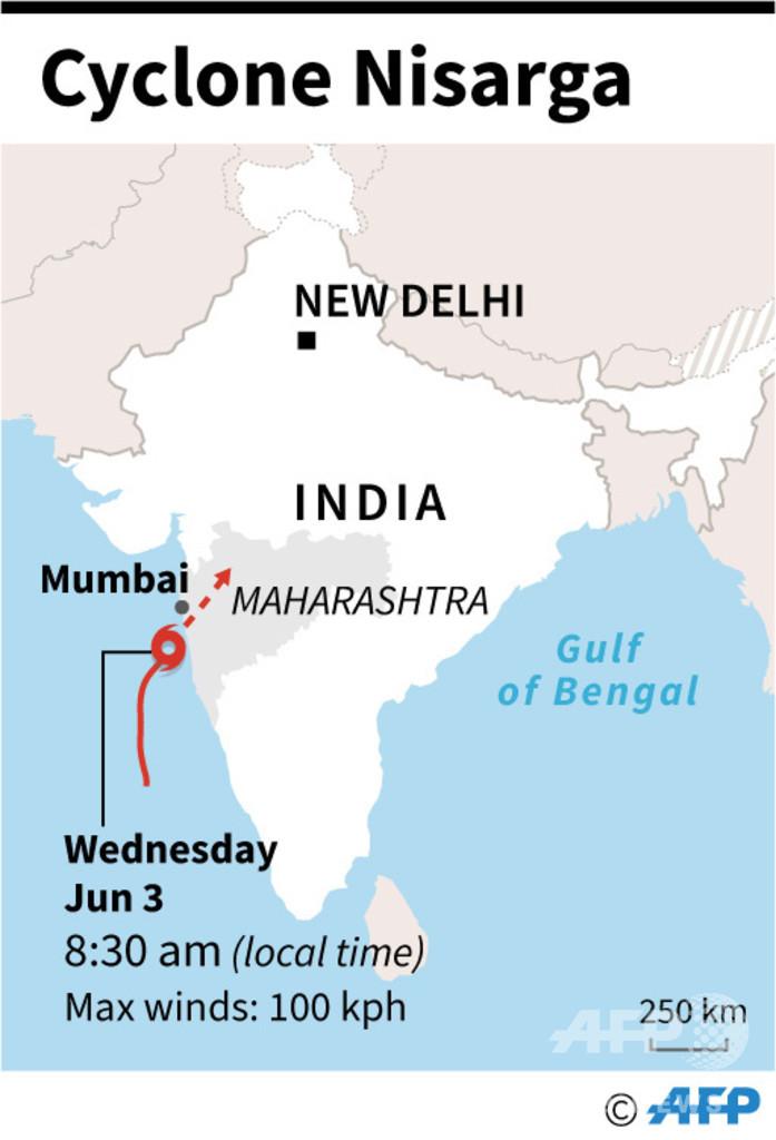 印ムンバイ近郊に70年ぶりのサイクロン上陸、大被害は回避