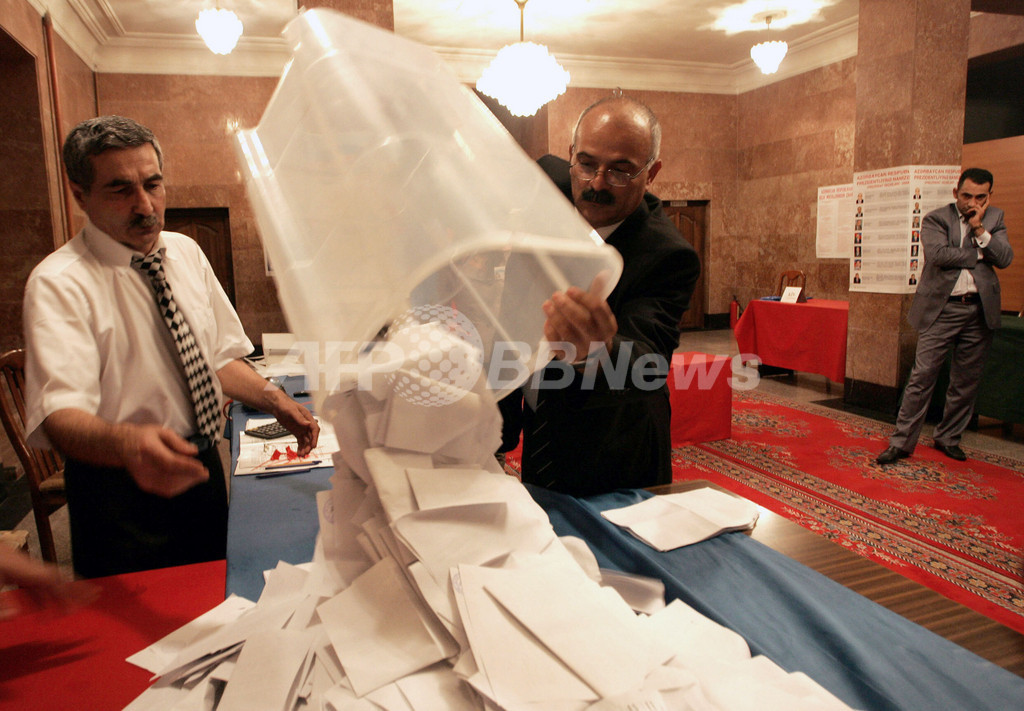アゼルバイジャン大統領選、現職の再選確実