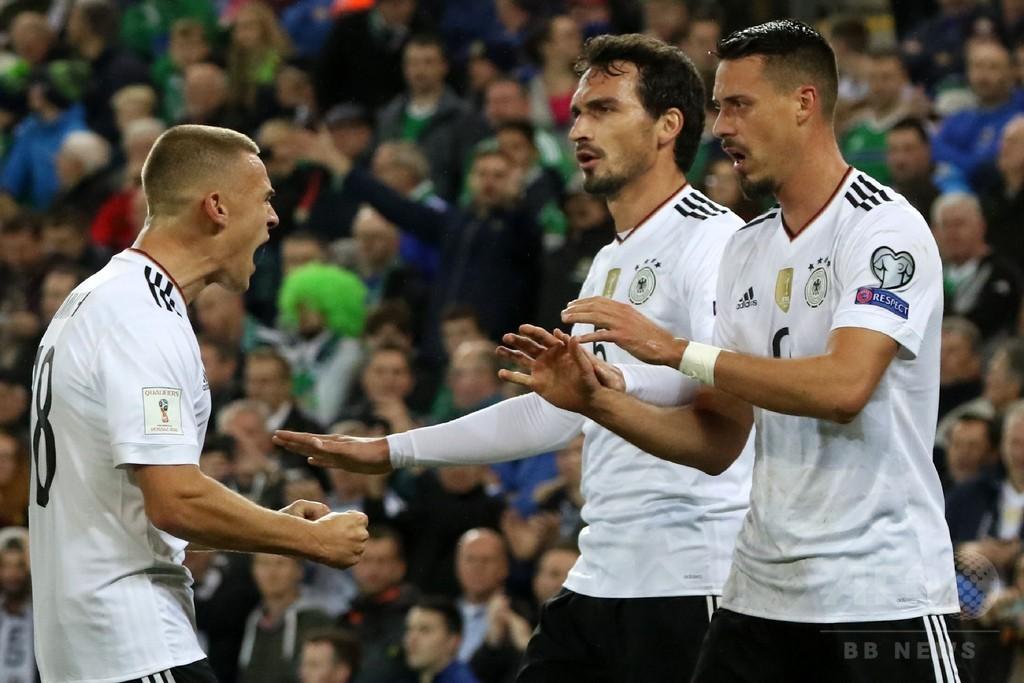 王者ドイツがW杯本大会へ、北アイルランドのホーム無敗記録破る