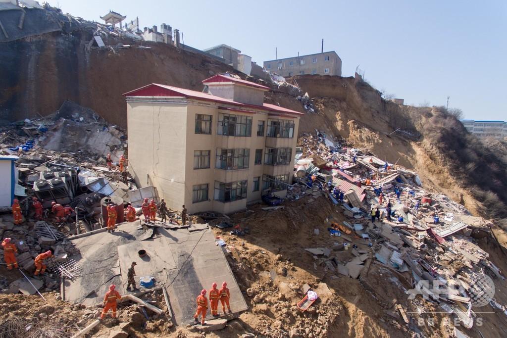 山西・臨汾市で土砂崩れ 12人死亡、8人行方不明