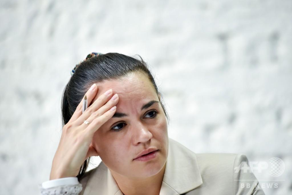 ベラルーシ大統領選の対立候補、リトアニアに滞在