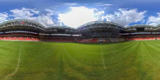 【360°パノラマ写真】ロシアW杯の会場、スパルタク・スタジアム