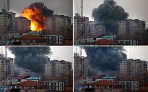 ミサイル着弾で集合住宅倒壊、18人負傷 ガザ