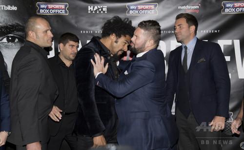 ボクシングの元王者ヘイ、記者会見で対戦相手と一触即発