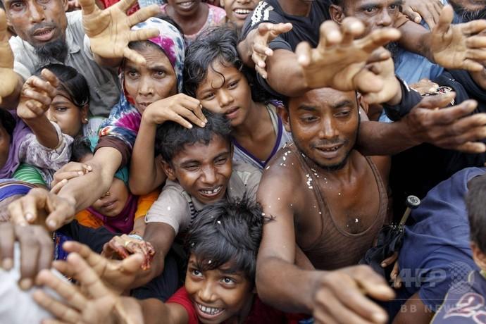 中国、ロヒンギャ問題でミャンマー支持 国外避難37万人に