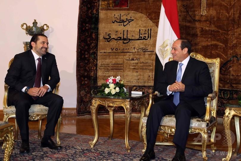 突然辞意のレバノン首相が帰国 進退表明へ