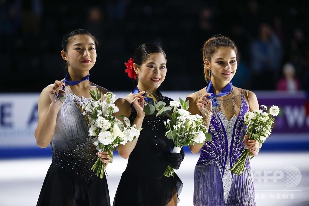 宮原がスケート・アメリカ連覇、坂本2位で日本勢ワンツー