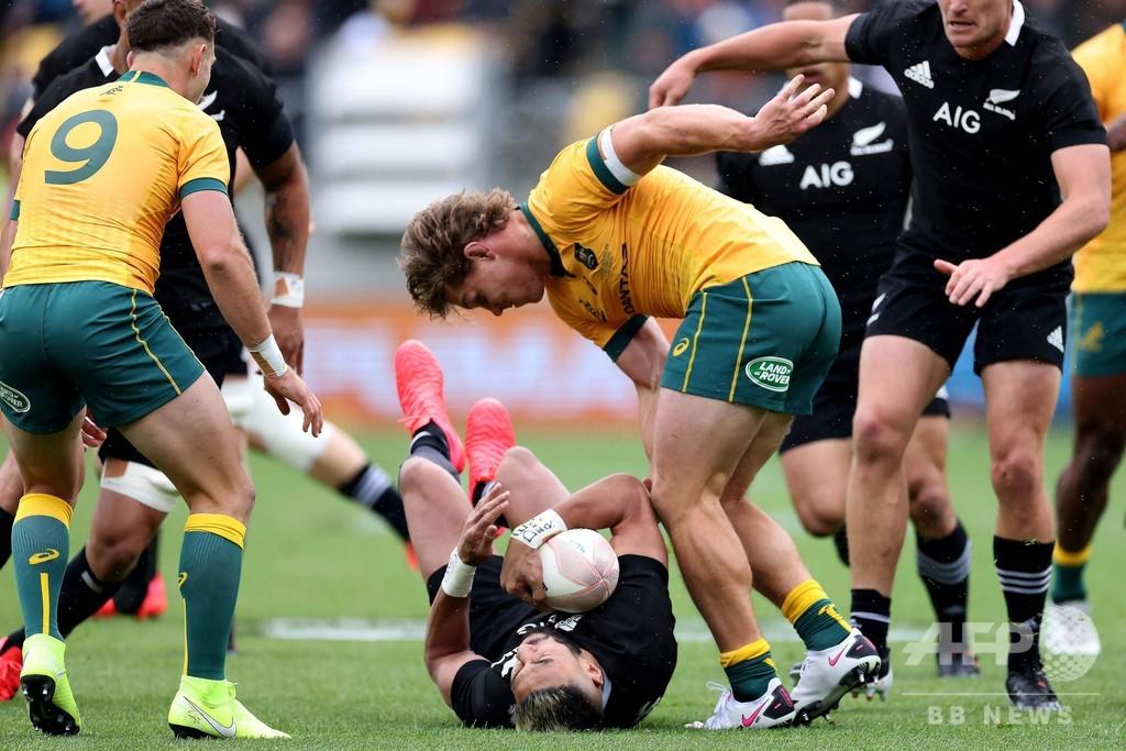 ラグビーのテストマッチ再開戦、NZと豪の熱戦はドロー