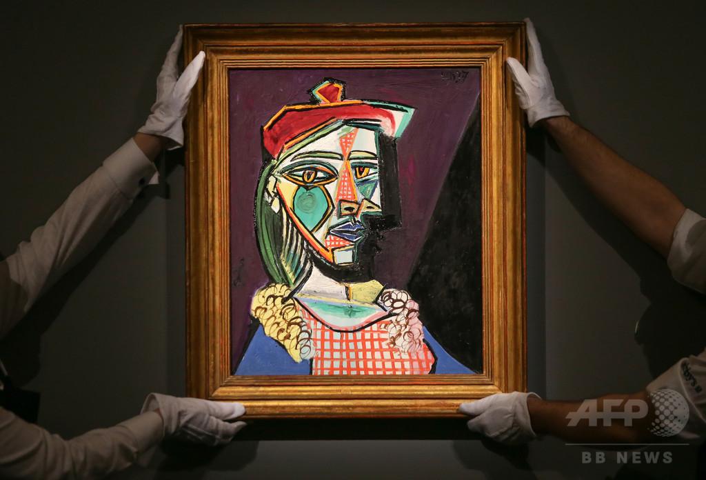 ピカソが描いた愛人の肖像画、73億円で落札 欧州記録更新