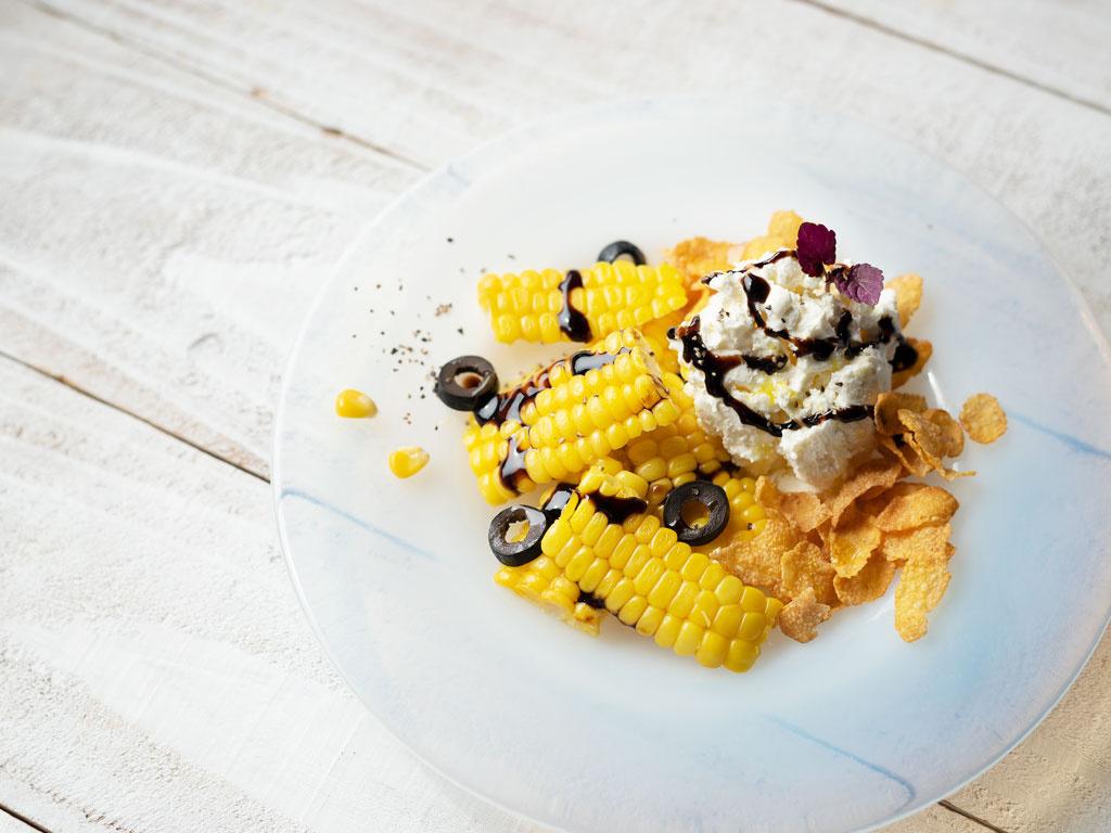 <La Cuillère de marie claire style>第100回 チーズのアイスクリームととうもろこし