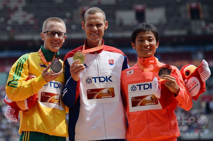 トスが「ピットストップ」しながらも男子50キロ競歩で金、第15回世界陸上