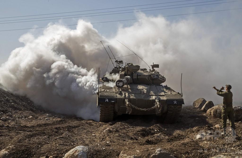 イスラエルがミサイル発射、シリア首都郊外に着弾 地元メディア