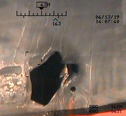 タンカー攻撃、米が新たな写真公開 イラン関与の証拠と主張