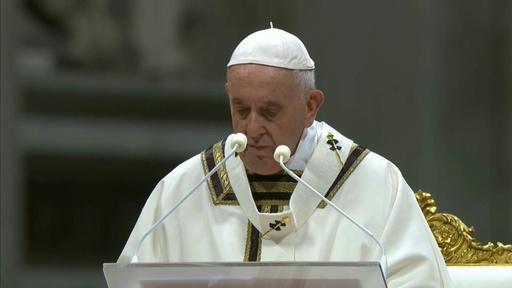 動画:ローマ教皇がクリスマスのミサ キリスト生誕の地にも信者集まる