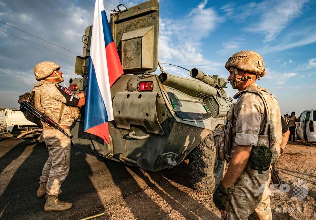 クルド人部隊、シリア北部国境からの撤収完了 ロシア発表