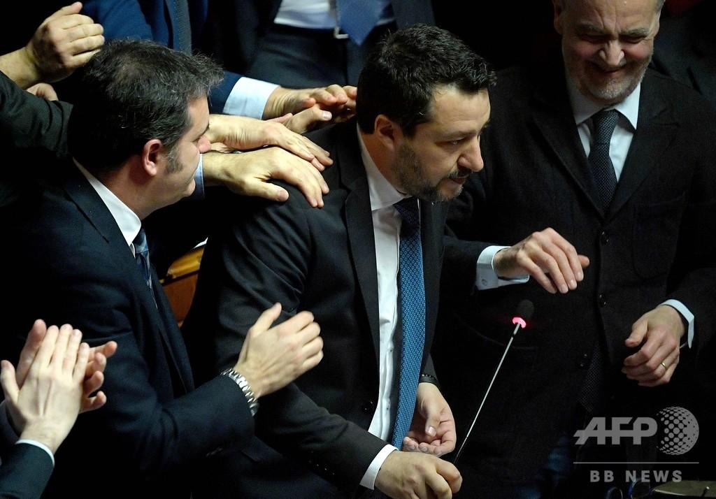 伊上院、極右党首の免責特権剥奪を可決 起訴に道筋