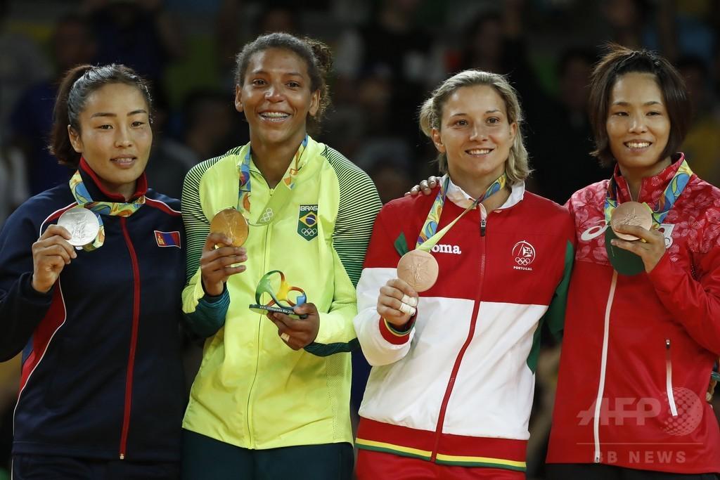 松本薫が柔道女子57キロ級で銅メダル、五輪連覇ならず