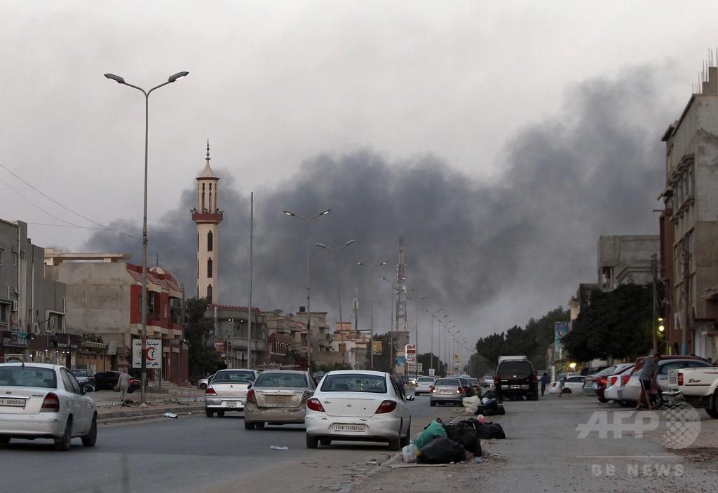 混迷のリビア、イスラム武装組織が首都の空港を「掌握」と主張