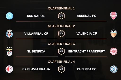 EL準々決勝の組み合わせ決まる、アーセナルがナポリと激突