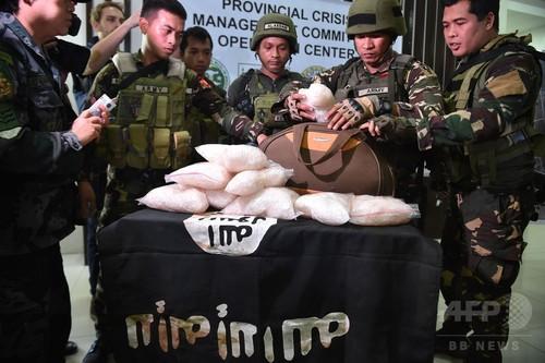 フィリピン軍、イスラム武装勢力の拠点から大量の麻薬など押収