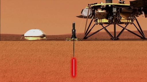 動画:火星探査機の「モグラ」、「HP3」をアニメーションで説明