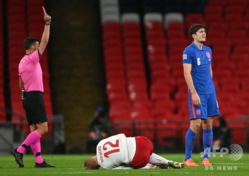 イングランドがデンマークに黒星、DFマグワイアが退場 欧州NL