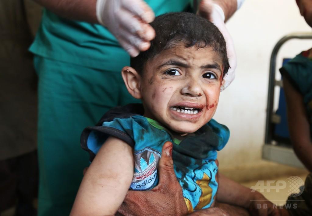 シリア市場空爆で市民44人死亡 反体制派、和平協議離脱を表明