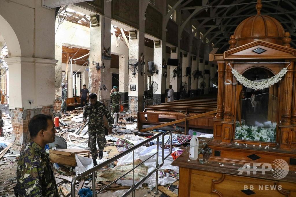 スリランカで8件目の爆発、死者数は計160人前後に