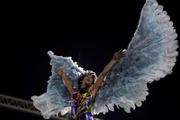 リオのカーニバル、パレード最終夜で人気歌手も登場
