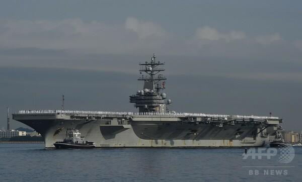 米原子力空母「R・レーガン」、横須賀基地に入港