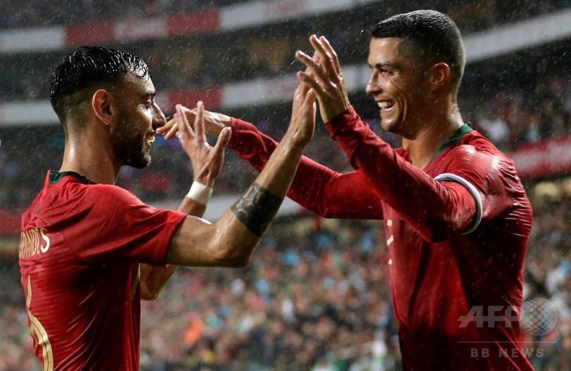 ポルトガル快勝、復帰のロナウドは大台の150試合出場
