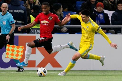 若手主体のマンU、敵地でアスタナに屈する ヨーロッパリーグ