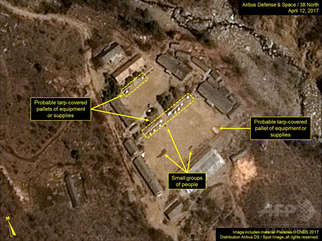 衛星向けにメッセージ? 北朝鮮、核実験場でバレーボール