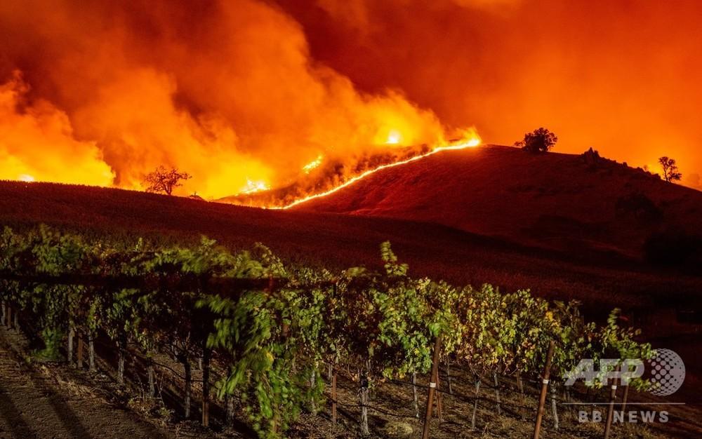 国際ニュース:AFPBB News米カリフォルニア州で山火事相次ぐ、ロス近郊で5万人に避難命令