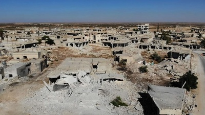 動画:シリア内戦、戦闘の爪あと目立つイドリブ