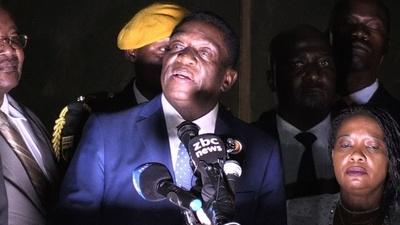 動画:ジンバブエ次期大統領、「民主化」掲げる