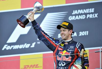 ベッテルが総合連覇、バトン優勝 小林13位 F1日本GP