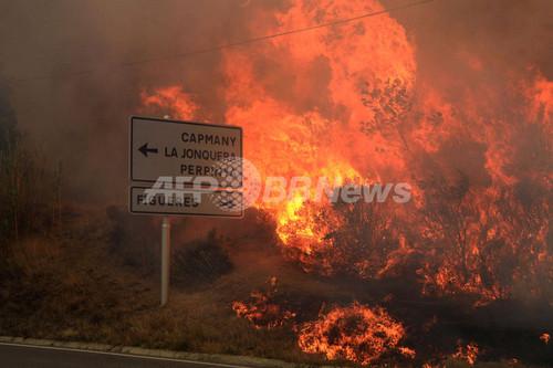 スペインの山火事、鎮火の見通し立たず 4人死亡