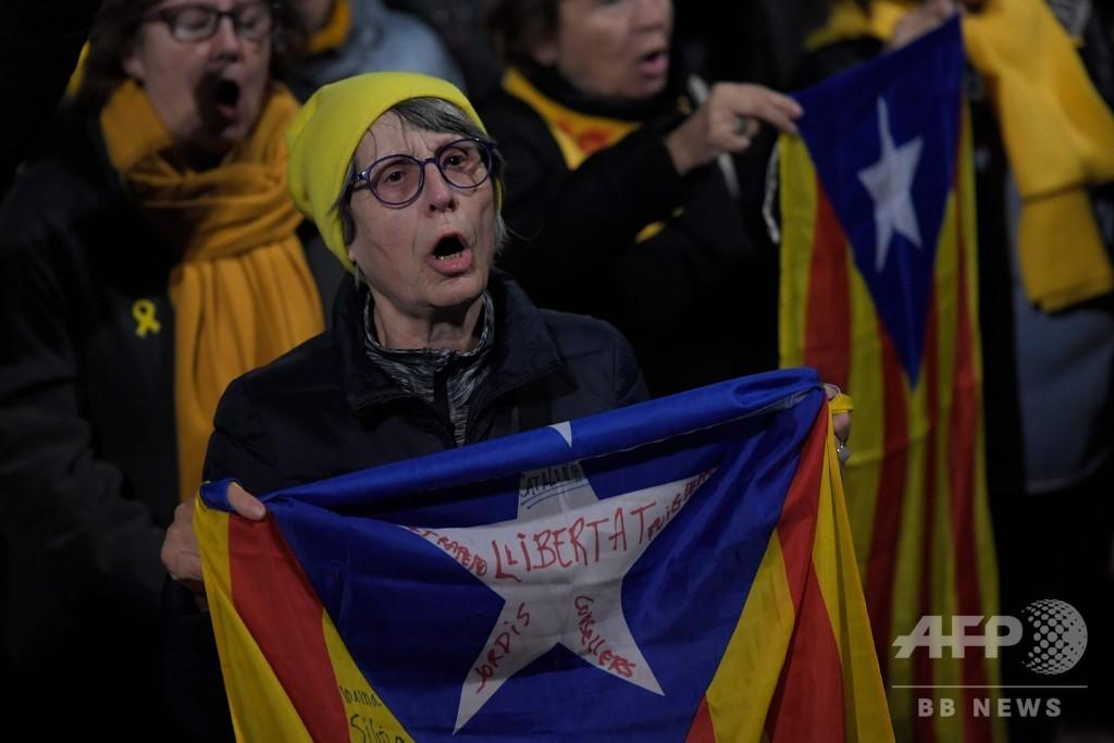 バルセロナで20万人がデモ カタルーニャ独立派の公判に抗議