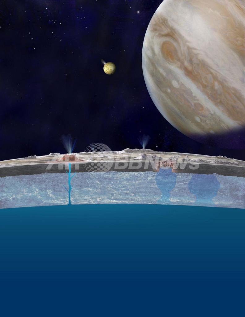 木星の衛星エウロパの断面図、米NASA公開
