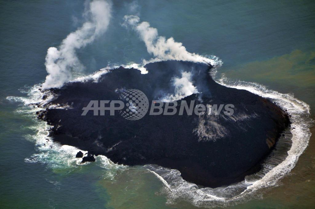 【写真特集】小笠原諸島に「新しい島」出現