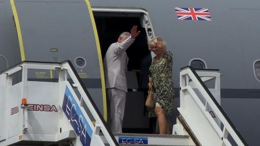 動画:チャールズ皇太子夫妻、英王室史上初のキューバ訪問 帰国の途に