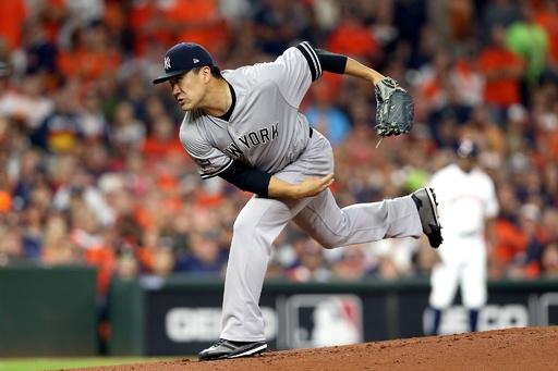 田中が6回無失点の好投、ヤンキースがシリーズ初戦を大勝で制す