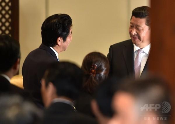 安倍首相、習主席と会談 インドネシア